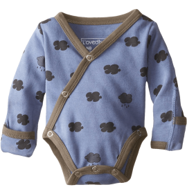 Unisex Baby Organic Kimono Bodysuit