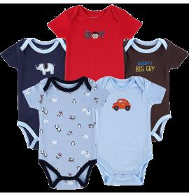 Short Sleeve Onesies Baby Bodysuit for Baby Boys-Girls