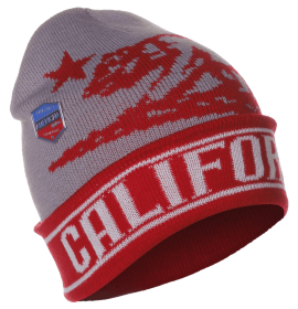 American Cities Unisex USA Block Letters Long Knit Hat Cap Beanie