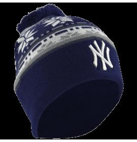 MLB New York Yankees Fashion Cuffed Knit Pom Beanie
