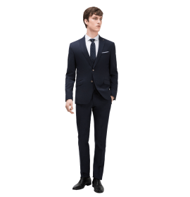 Textured 3 piece suit